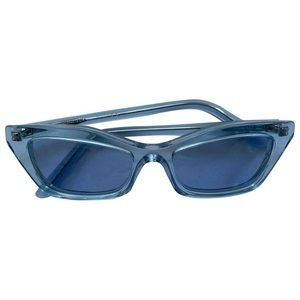 balenciaga blue cat eye sunglasses bnwt